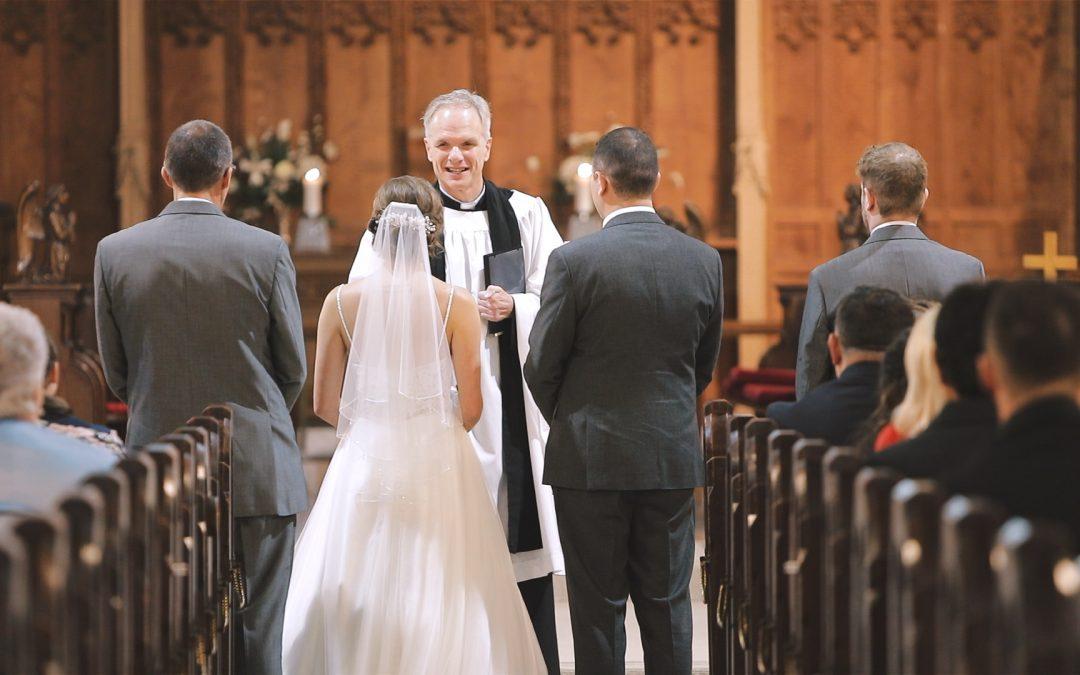 wedding ceremony Plymouth Emmanuel church