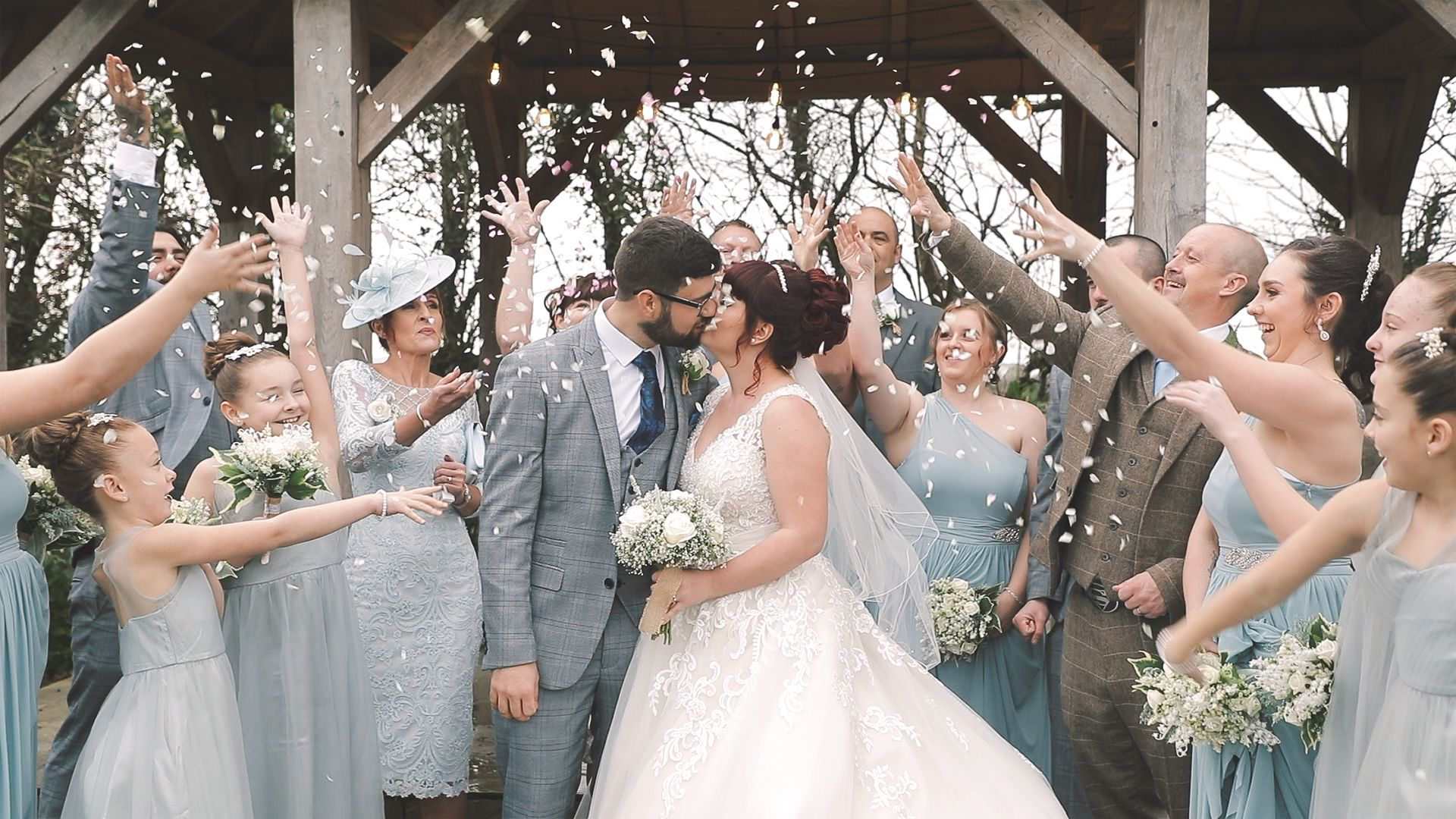 Bride and Groom confetti Throw, Trevenna Barns
