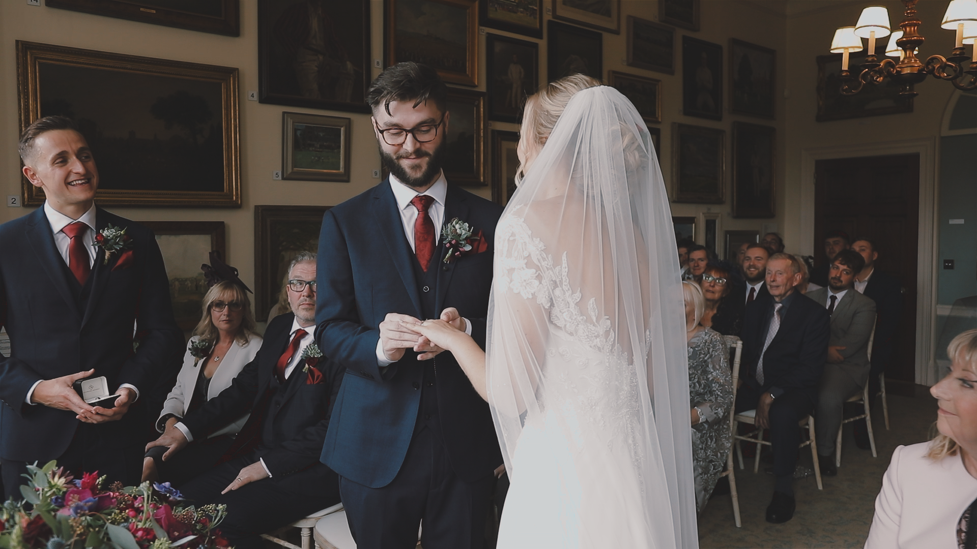 Ring excahnge ceremony, Deer PArk House