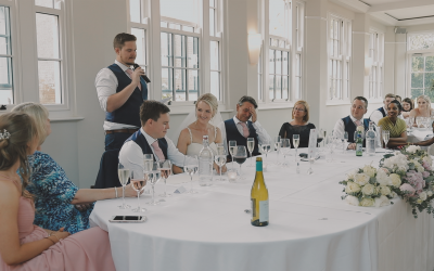 A toast to the Bride and Groom!